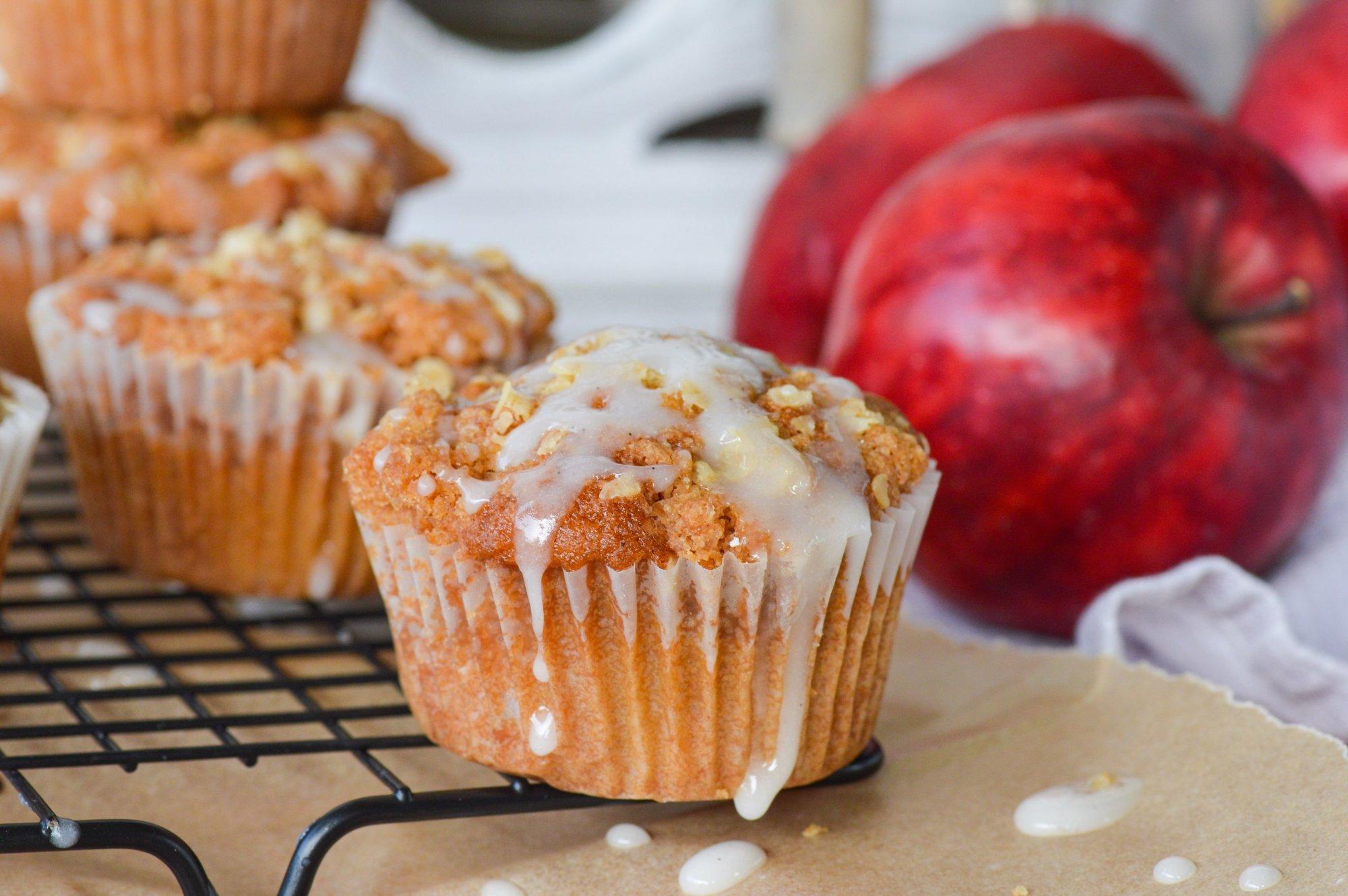RedLove appel kruimel muffins